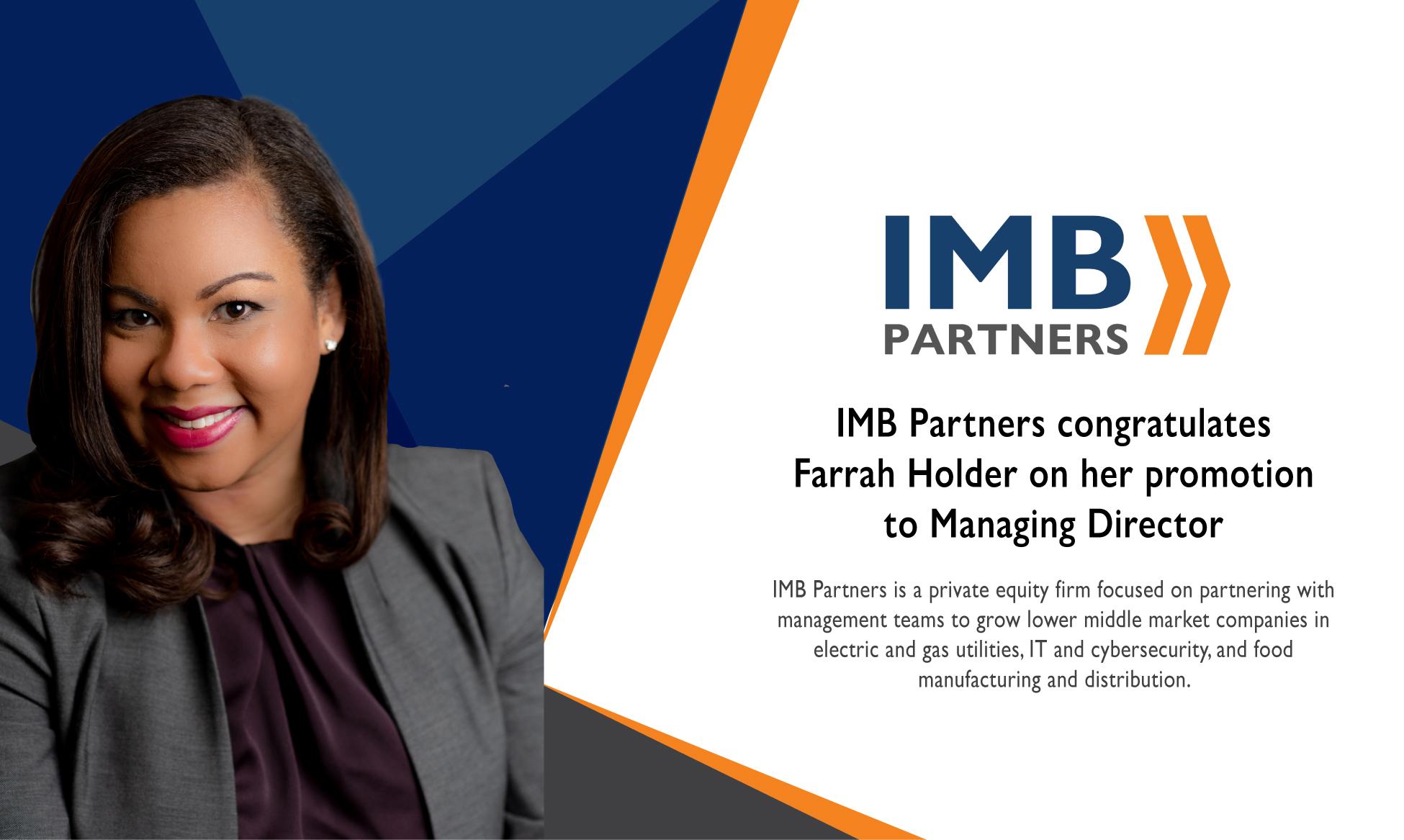IMB Partners Promotes Farrah Holder to Managing Director